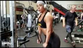 IForce athlete Sherry Darrell workout at the Mecca