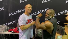 Johnnie Jackson 2021 Olympia Expo at the ALLMAX booth