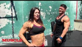 Oksana Grishina & Jeremy Buendia train abs