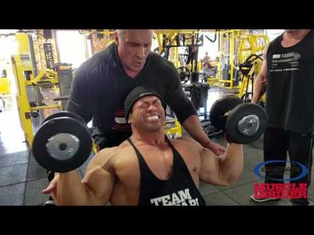 Hidetada Yamagishi Trains Shoulders with Milos Sarcev 2018